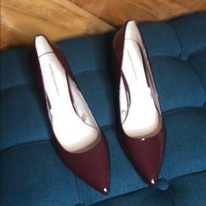 Zara round heel patent pumps